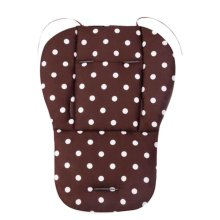 Cool Thicken Baby Strollers Mat Stroller Seat Liners - Coffee