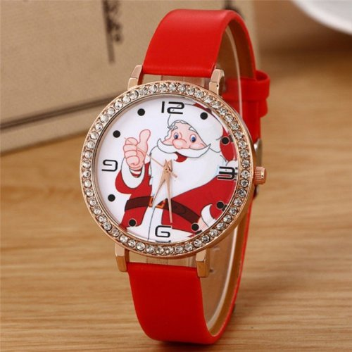 Santa Claus Watch in Red Colour