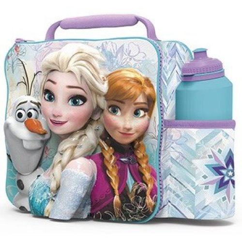 Disney Frozen Elsa, Anna & Olaf 3d Lunch Box Bag With Bottle - Elsa -  disney frozen elsa anna olaf 3d lunch box bag bottle