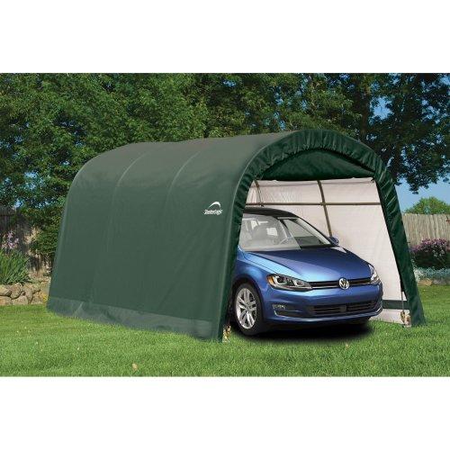 10x15 Shelter Logic Round Top Auto Shelter