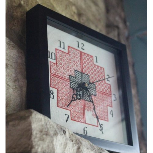 Cross Stitch & Blackwork Clock Kit by Doodlecraft - kit includes everything needed to make your own clock