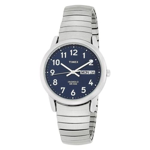 Timex Easy Reader Watch with Dial Analogue Display and Stainless Steel Bracelet