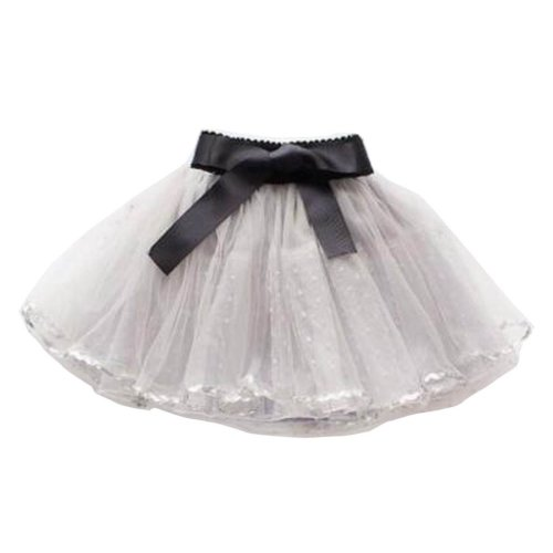 31bed0a49 [Gray-4] Girls Tutu Skirt Tulle Princess Skirt Children Dress-up Fluffy  Skirt on OnBuy
