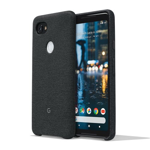 Google Pixel 2 XL Phone Case Cover Tailored Fabric Active Edge Compatible - Carbon