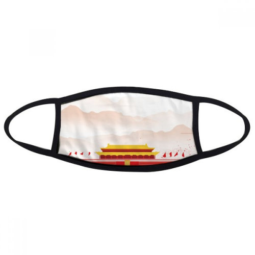 Red Flag Tiananmen Mountain Fog Mouth Face Anti-dust Mask Anti Cold Warm Washable Cotton Gift