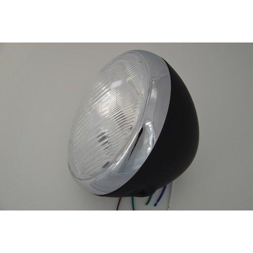 "7.5"" Black Steel Motorbike Motorcycle Headlight for Cafe Racer Custom"
