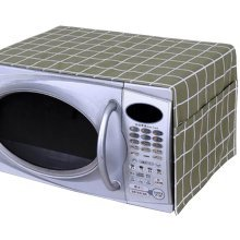 Pastoral Style Microwave Oven Dustproof Cover Dust Cover Green Plaid