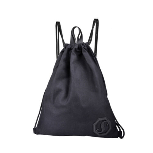 Travel Storage Bags Casual Sports Backpack Drawstring Bag, Black