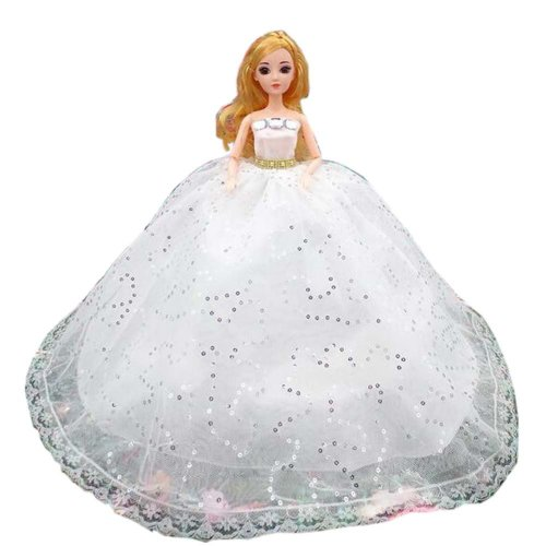 Elegant Dolls Wedding Party Dress Princess Clothes Dolls Outfits for Girl Birthday Gift, D