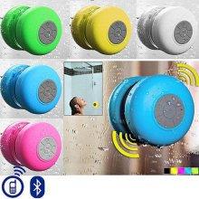 Waterproof Wireless Bluetooth Handsfree Mic Suction Shower Speaker Car Stereo[Blue]