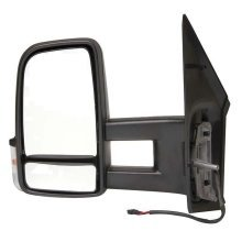 Volkswagen Crafter Van 2006-> Electric Long Arm Wing Door Mirror Passenger Side