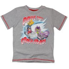 Angry Birds Transformers T Shirt - Grey
