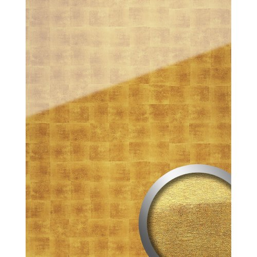 WallFace 17840 LUXURY Wall panel self-adhesive Glass cubes gold beige 2.6 sqm