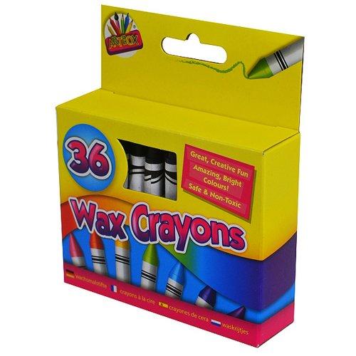 ArtBox 36 Wax Crayons And Sharpener