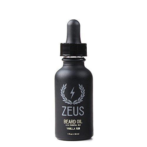 ZEUS Beard Oil for Men, Vanilla Rum, 1 Ounce