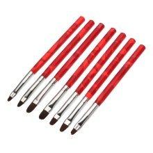 7Pcs UV Gel Nail Art Brush Polish Painting Pen 3D Drawing Kit Salon Manicure Tool