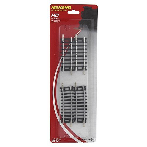 """Mehano """"Blister  2 X 3'' Straight + 2 X 3'' Curved Track  10Ëš / R 457,2 Mm- Made In Slovenia"""