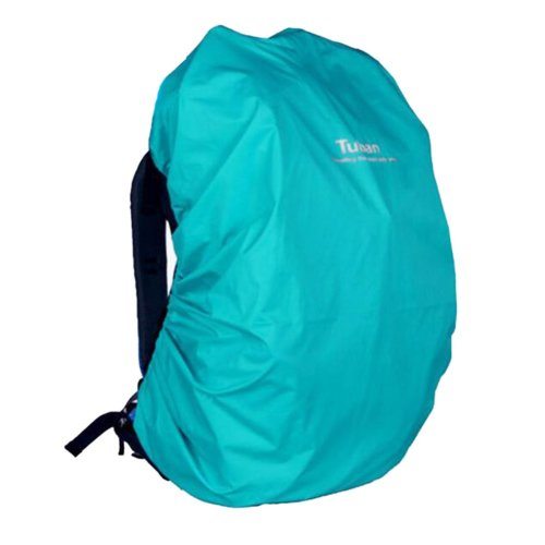 Outdoor Riding Backpack Rain Cover Waterproof Backpack Cover-40 L Lake Blue