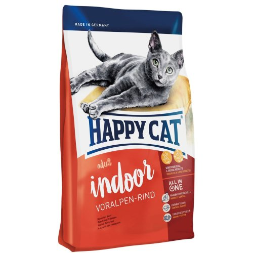 Happy Cat Indoor Adult Alpine Beef Pet Food, 10 kg