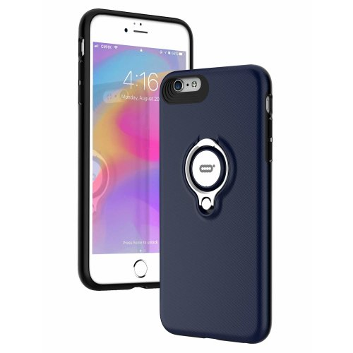 premium selection 9d620 e6088 iPhone 6s Case, iPhone 6 case with Ring Kickstand by ICONFLANG, 360 Degree  Rotating Ring Grip Case, Dual Layer Shockproof Impact Protection Case...