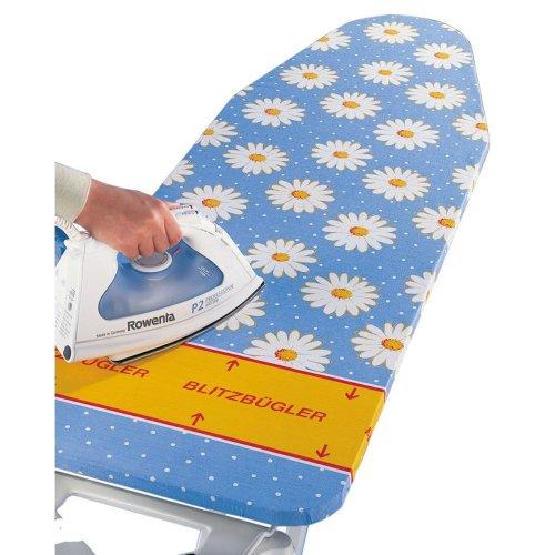 Wenko 1264643500 Ironing Board Cover Margie Blue - Blitzbügler® Zone, 4 mm Comfort Padding Cotton 130 x 51 cm