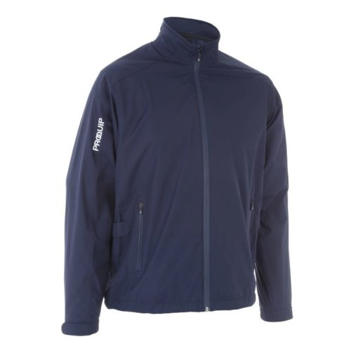 ProQuip Golf Mens Aquastorm PX1 Waterproof Rain Jacket Full Zip Navy 2X-Large
