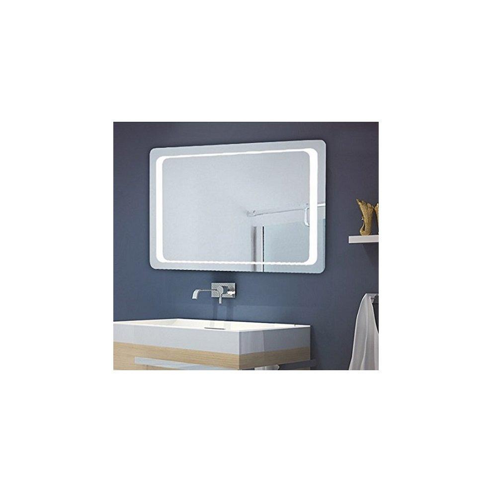 Homcom Bathroom Illuminated Mirror 120 Led Pad On Onbuy
