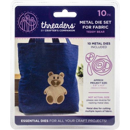 "Crafter's Companion Threaders Metal Fabric Nesting Dies-Teddy Bear Project 5.9""X4.3"" 10/Pkg"