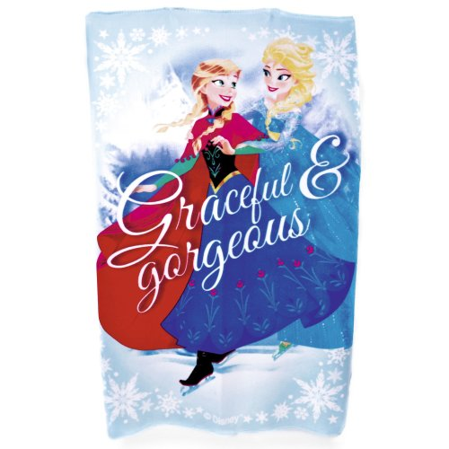 New Girls Disney Frozen Official 100% Polyester Cartoon Printed Fleece Blanket