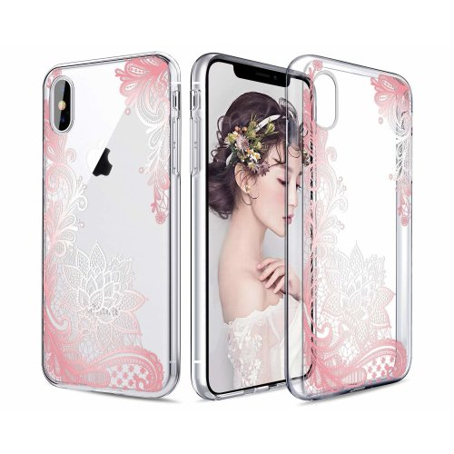 best website 9d6be 39dd3 Casetego Compatible iPhone XS Max Case,Clear Soft Flexible TPU Case Rubber  Silicone Skin with Flowers Floral Printed Back Cover for Apple iPhone XS...