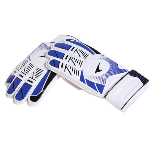 Professional Durable Adults Football Receiver Gloves, (Blue/White, M)