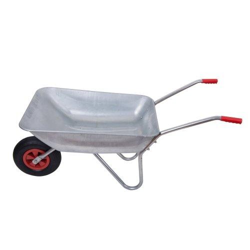 Outsunny Garden Wheelbarrow Work Tool Rubber Wheel 50l / 80kg