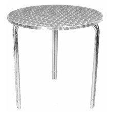 Tresick Stainless Steel Patio Table Easy Storage