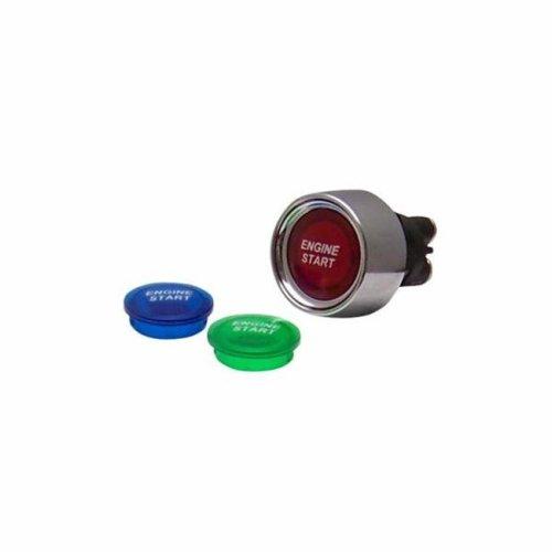 AUTOLOC POWER ACCESSORIES 89716 Red Illuminated Push Button Start Switch