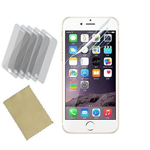 InventCase Screen Protector Guard with Cleaning Cloth (5-Pack) for Apple iPhone 6 Plus 2014 / iPhone 6s Plus 2015