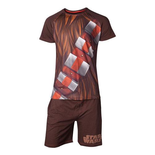 STAR WARS Chewbacca Shortama Nightwear Set, Male, Extra Large, Brown (SI101300STW-XL)