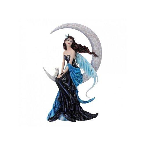 Nemesis Now Moon Indigo by Nene Thomas 30cm Fantasy Fairy Crescent Moon Figurine