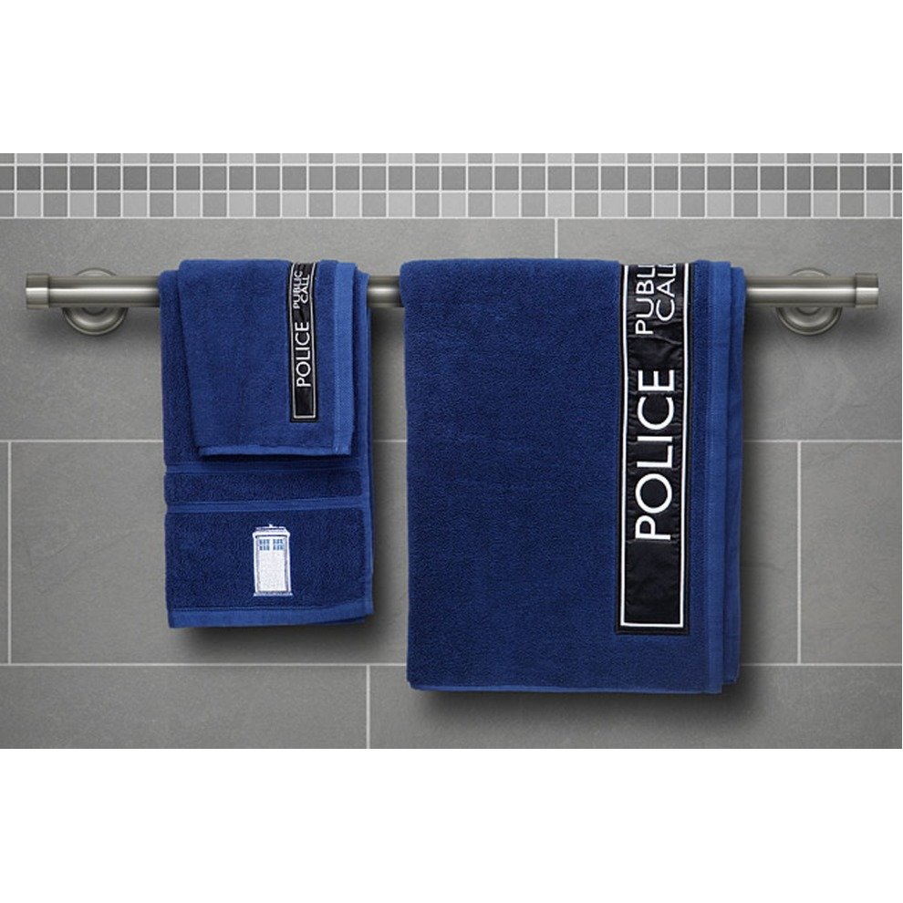 Doctor Who TARDIS 3-Piece Towel Set - Bath, Hand and Face Towels on ...