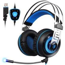 SADES A7 7.1 Virtual Surround Sound USB Gaming Headset