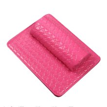 Nail Art Arm Rest Holder PU Leather Soft Hand Cushion Pillow & Pad Rest Rose Red