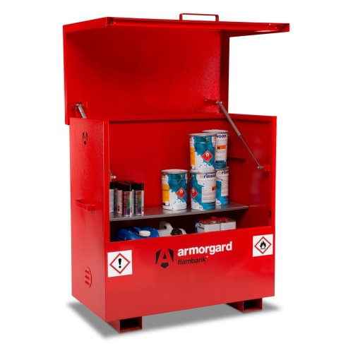 Armorgard FlamBank Flammable Liquids Safe Storage Site Chest Box - 1275x675x1270mm