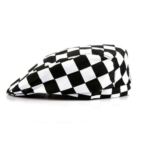 2 Pcs Chef Work Unisex Printing Chef Hat Beret Party Accessory for Adult, Q3