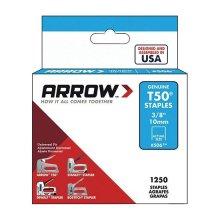 "Arrow Staples T50 3/8""- 10mm (Box Of 1250)"