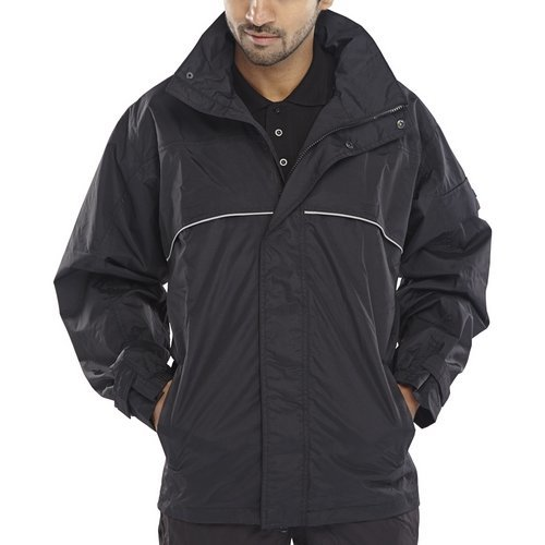 Click SJBLL Springfield Taslon Breathable Jacket With Concealed Hood Black Large