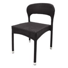 Set of 4 Kayla Wicker Chair - Charcoal