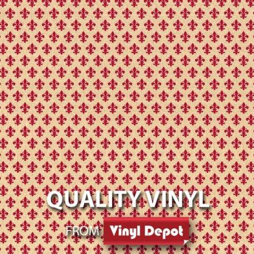 d-c-fix Sticky Self-Adhesive Decor Vinyl Fablon Fleur De Lys Red 450mm/m