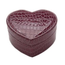 Heart-shaped Jewelry Box Rings Earrings Organizer Make-up Case Jewellery Storage Box, C