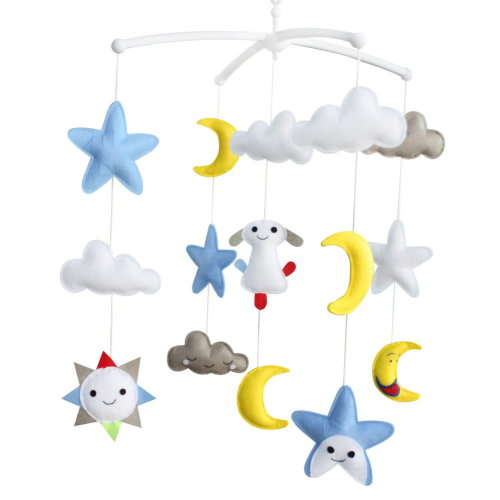 [Happy Forever] Handmade Toys, Rotatable Crib Mobile, Super Cute Decor