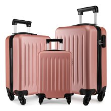 KONO Luggage Suitcase Travel Trolley Case Bag 19 24 28 Inch Set Hard Shell ABS 4 Wheels Spinner Nude