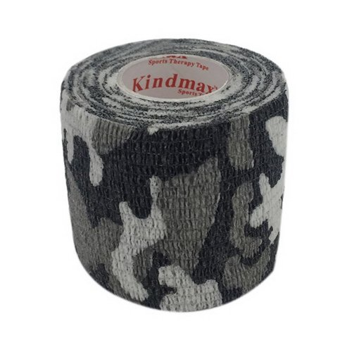 3 Rolls 2 Inches X 5 Yards Elastic Self Adhesive Bandages For Sports, Black Camo